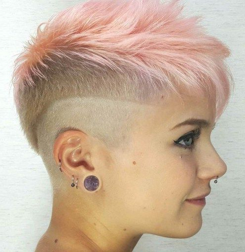 70 Short Shaggy, Spiky, Edgy Pixie Cuts And Hairstyles In 2018 Regarding Funky Pink Mohawk Hairstyles (Gallery 7 of 25)
