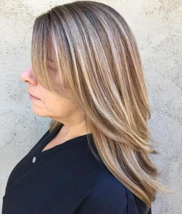 78 Gorgeous Hairstyles For Women Over 40 Inside 2018 Fringy Layers Hairstyles With Dimensional Highlights (Gallery 16 of 25)