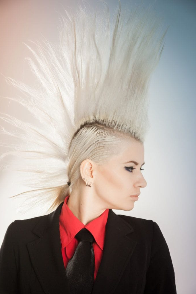 8 Fashionable Mohawk Hairstyles For Women: From Haute To Head Turning Regarding Bed Head Honey Mohawk Hairstyles (Gallery 9 of 25)