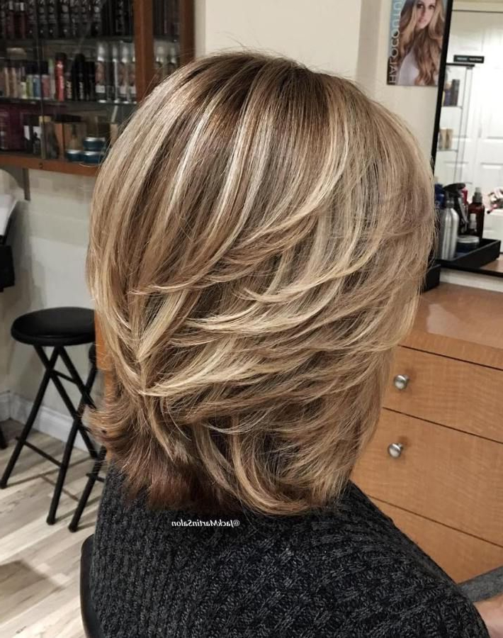 80 Best Modern Haircuts And Hairstyles For Women Over 50 In 2018 Regarding Recent Swoopy Layers Hairstyles For Voluminous And Dynamic Hair (Gallery 8 of 25)