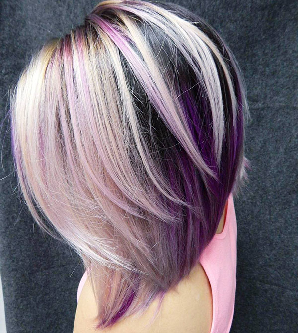 80 Brightest Medium Layered Haircuts To Light You Up – Page 17 For Recent Medium Angled Purple Bob Hairstyles (View 18 of 25)