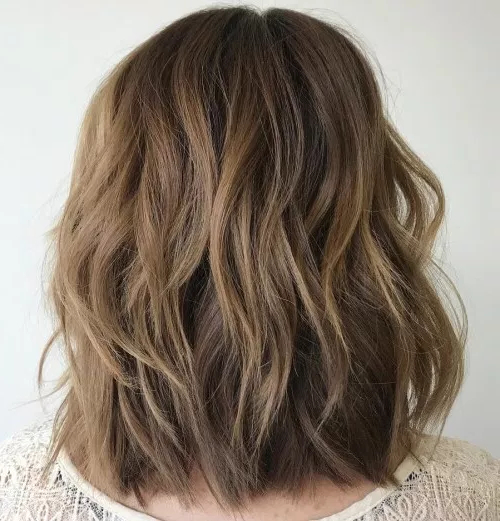 80 Medium Length Haircuts For Thick Hair That You'll Love – Page 2 With Regard To Most Recently V Cut Layers Hairstyles For Thick Hair (View 7 of 25)