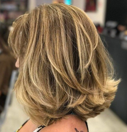 80 Sensational Medium Length Haircuts For Thick Hair | Flipped pertaining to 2018 Shoulder Length Haircuts With Flicked Ends