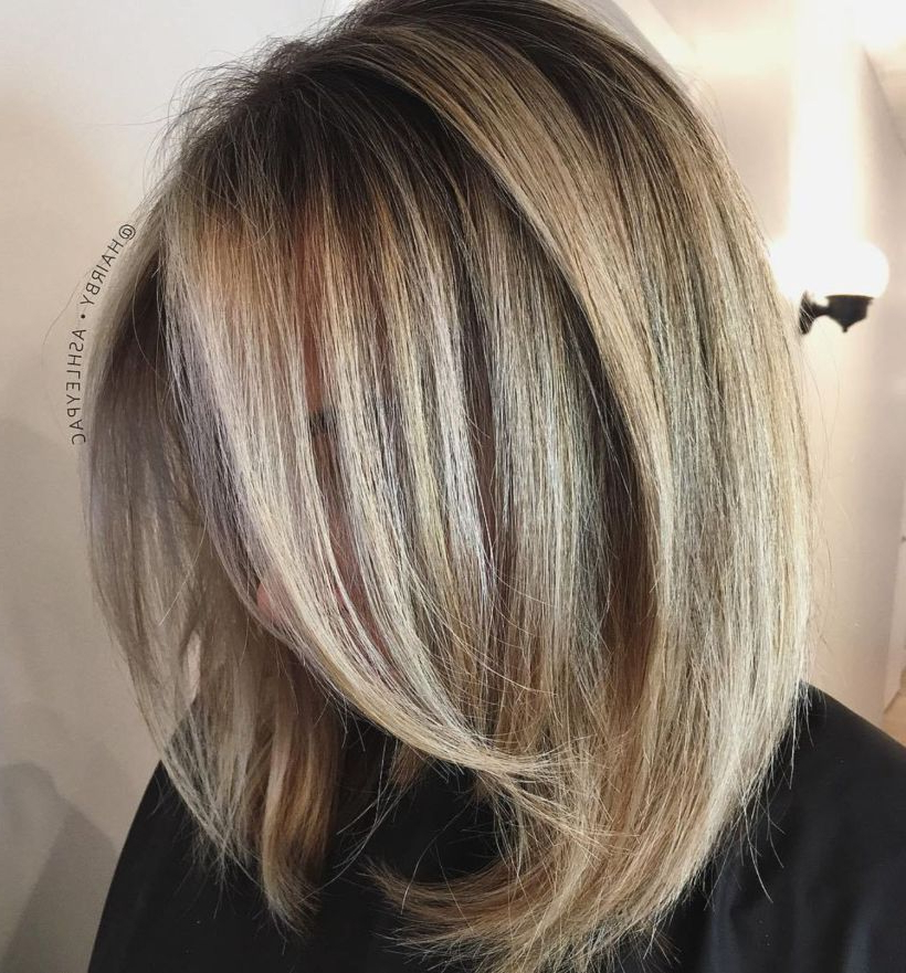 80 Sensational Medium Length Haircuts For Thick Hair | Hair | Hair Within Current Flipped Lob Hairstyles With Swoopy Back Swept Layers (View 19 of 25)