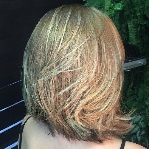 80 Sensational Medium Length Haircuts For Thick Hair In 2018 | Hair Within Latest Two Layer Bob Hairstyles For Thick Hair (View 14 of 25)