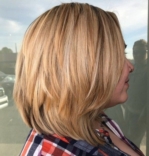 80 Sensational Medium Length Haircuts For Thick Hair In 2018 | My Throughout Most Up To Date Two Tier Lob Hairstyles For Thick Hair (View 5 of 25)