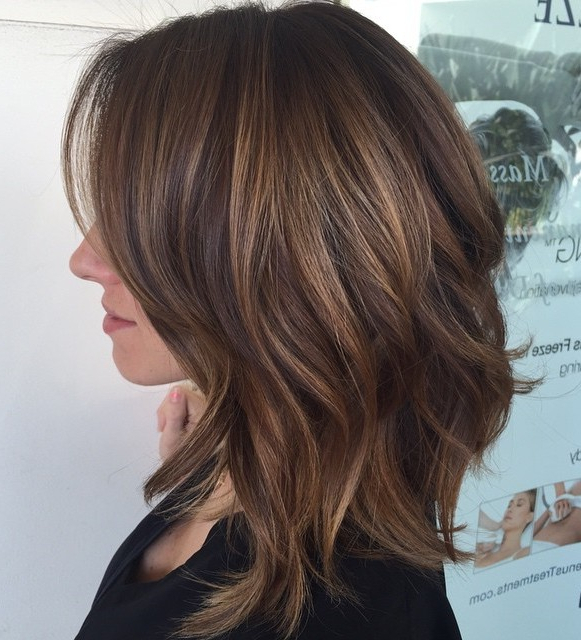 80 Sensational Medium Length Haircuts For Thick Hair In 2018 Pertaining To Most Current Swoopy Layers Hairstyles For Voluminous And Dynamic Hair (Gallery 3 of 25)