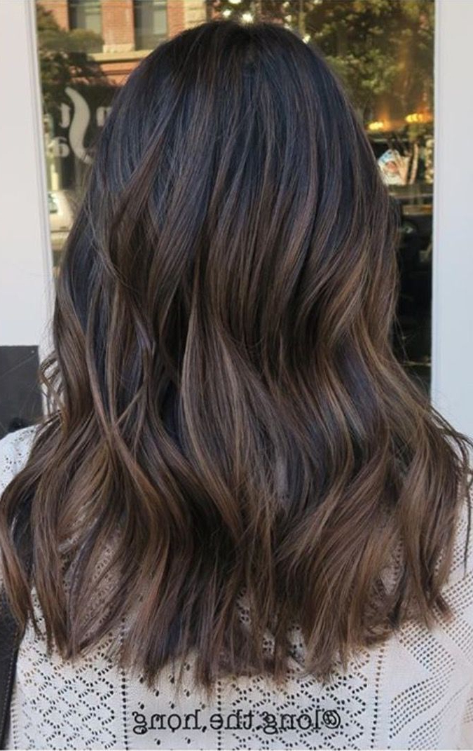 83 New Brilliant Balayage Black Hair Color Ideas To Inspire You With Current Medium Brown Tones Hairstyles With Subtle Highlights (Gallery 16 of 25)
