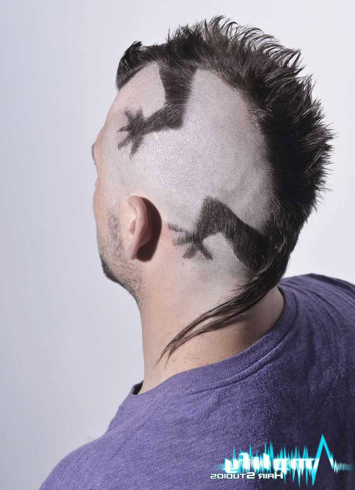 A Funky Men's Mohawk Haircut. This Hairstyle Is A Mohawk Cut To Look Inside Work Of Art Mohawk Hairstyles (Gallery 22 of 25)