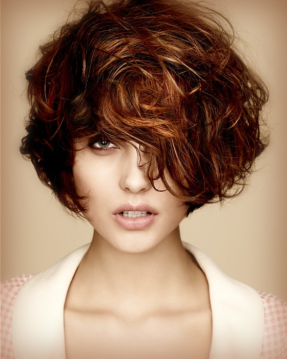 A Medium Brown Hairstyle From The Bha Collections 2012: Peche In Most Up To Date Medium Messy Curly Haircuts (View 21 of 25)