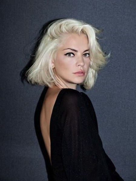 Above The Shoulder Bob Haircut – Blonde Bob With Side Part (View 11 of 25)