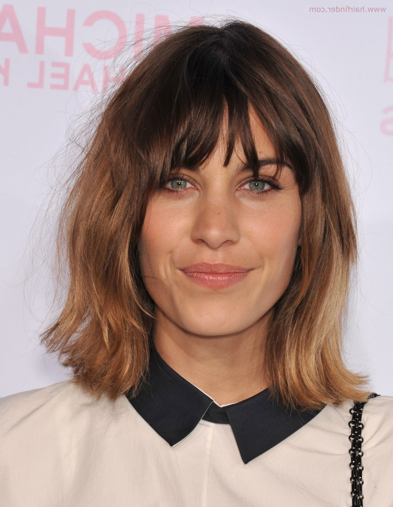 Alexa Chung | Above The Shoulders Bob With Flipped Out Ends And Inside Recent Long Bob Hairstyles With Flipped Layered Ends (View 8 of 25)