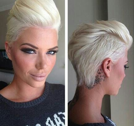 Amazing Hair! Lady Faux Hawk Pixie Cut | Ideas | Pinterest | Short With Regard To Pink Pixie Princess Faux Hawk Hairstyles (Gallery 3 of 25)