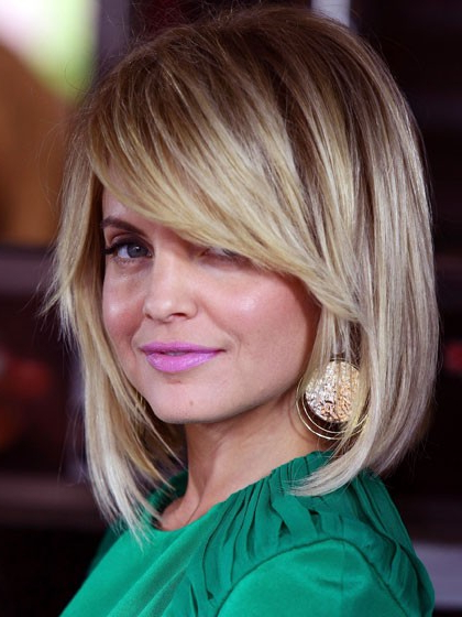 An Angled Bob With Sweeping Bangs And Piecey Ends Is Way More Regarding Most Up To Date Brunette Feathered Bob Hairstyles With Piece Y Bangs (View 22 of 25)