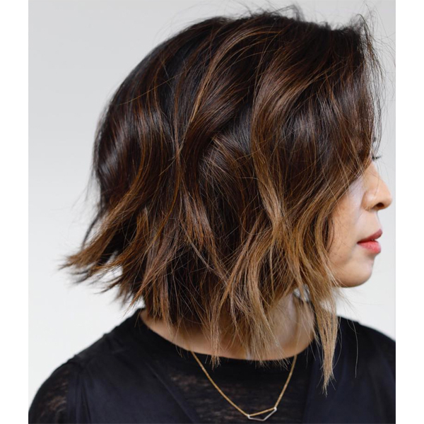 Anh Co Tran's Bob Cutting Technique – Behindthechair Pertaining To Current Point Cut Bob Hairstyles With Caramel Balayage (Gallery 9 of 25)