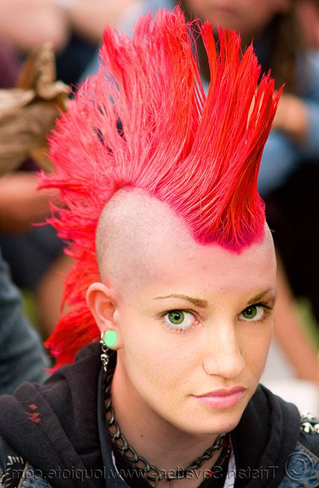 Appearance. Mohawks Are Classic! I Believe That Mohawks Were The Pertaining To Vibrant Red Mohawk Updo Hairstyles (Gallery 3 of 25)