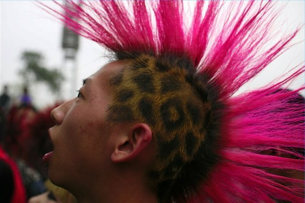 Awesome Combo Cheetah Print + Mowhawk= Manic Panic Dye Hard Boy For Long Lock Mohawk Hairstyles (View 15 of 25)