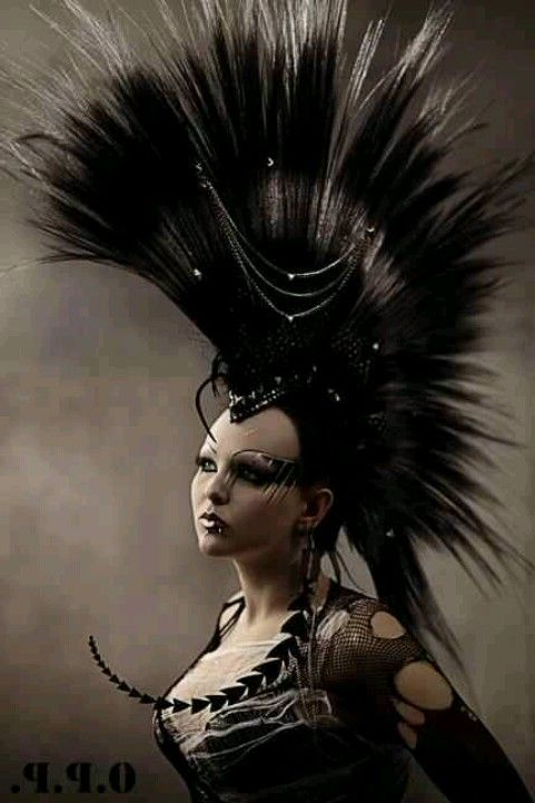 Awesome Mohawk Hair Style Punk Goth #blazesalon #hairstyles Throughout Braided Tower Mohawk Hairstyles (Gallery 6 of 25)