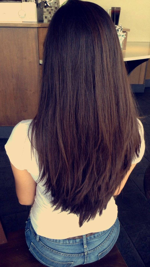 Awesome V Cut • Layered • Long Layers • Long Hair • Long Hairstyles Inside Newest V Cut Layers Hairstyles For Thick Hair (Gallery 8 of 25)