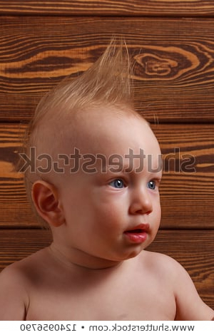 Baby Boy Mohawk Hairstyle On His Stock Photo (Edit Now) 1240956790 For Innocent And Sweet Mohawk Hairstyles (View 19 of 25)