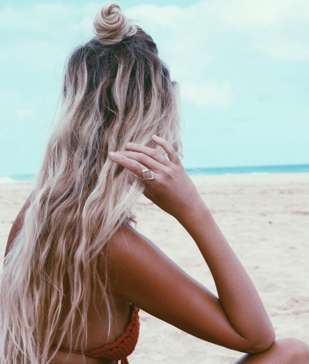 Beachy Bun Via The Salty Blonde | Beauty, Hair, & Skin Care | Hair With Most Popular Salty Beach Blonde Layers Hairstyles (View 4 of 25)