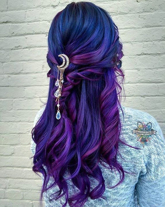 Beauty: Fantasy Unicorn Purple Violet Red Cherry Pink Yellow Bright In Hot Pink Fire Mohawk Hairstyles (View 21 of 25)