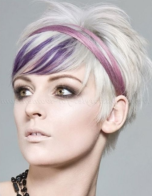 Best Hairstyle Over 40 | Bouffant Hair Bob | Pinterest | Hair, Short Throughout Spiky Mohawk Hairstyles With Pink Peekaboo Streaks (View 21 of 25)