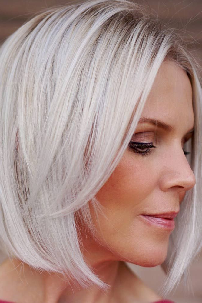 Best Hairstyles & Haircuts For Women In 2017 / 2018 : Long Bangs Regarding Latest Perfect Layered Blonde Bob Hairstyles With Bangs (View 23 of 25)