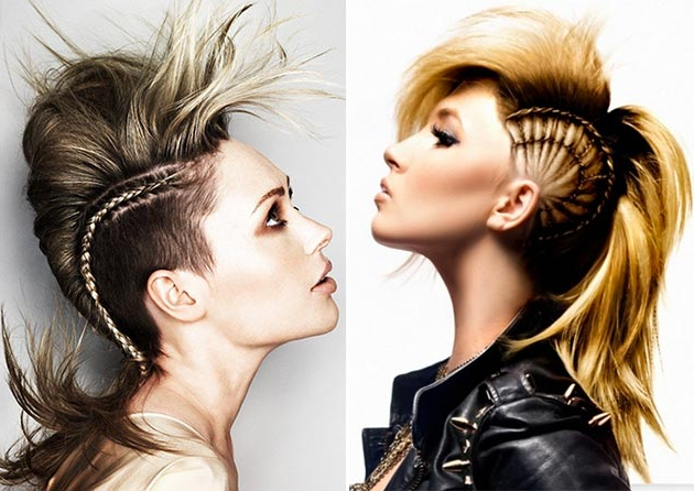 Best Mohawk And Fauxhawk Hairstyles For Women | Fashionisers Pertaining To Glamorous Mohawk Updo Hairstyles (View 23 of 25)