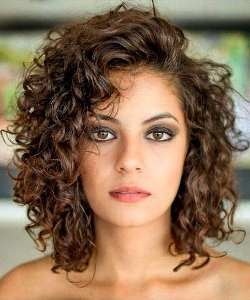 Best Shoulder Length Curly Hairstyles 2018 For Women | Medium Curly With Best And Newest Medium Messy Curly Haircuts (View 6 of 25)