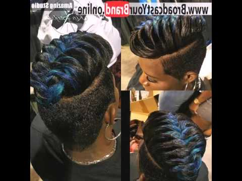 Black Braided Faux Hawk – Youtube Pertaining To Black Braided Faux Hawk Hairstyles (View 17 of 25)