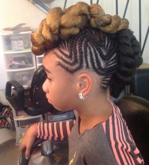 Black Girls Braided Mohawk Hairstyles – 10 African American Girls Inside Small Braids Mohawk Hairstyles (View 14 of 25)