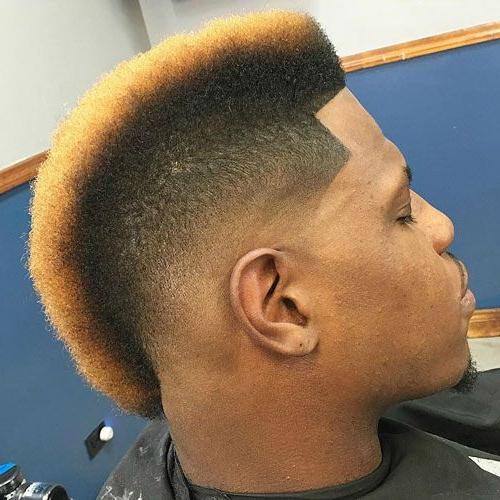 Black Men's Mohawk Hairstyles | Black Men Haircuts | Hair Cuts, Hair With Regard To Mohawk Haircuts With Blonde Highlights (View 3 of 25)