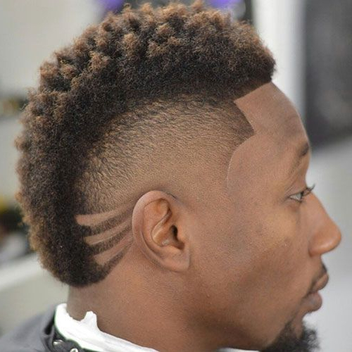 Black Men's Mohawk Hairstyles | Black Men Haircuts | Pinterest In Platinum Mohawk Hairstyles With Geometric Designs (View 8 of 25)