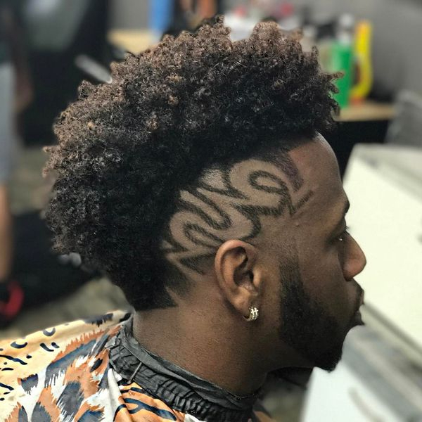 Black Mohawk Hairstyles, African American Mohawk Hairstyles For Men Within Mohawks Hairstyles With Curls And Design (View 18 of 25)