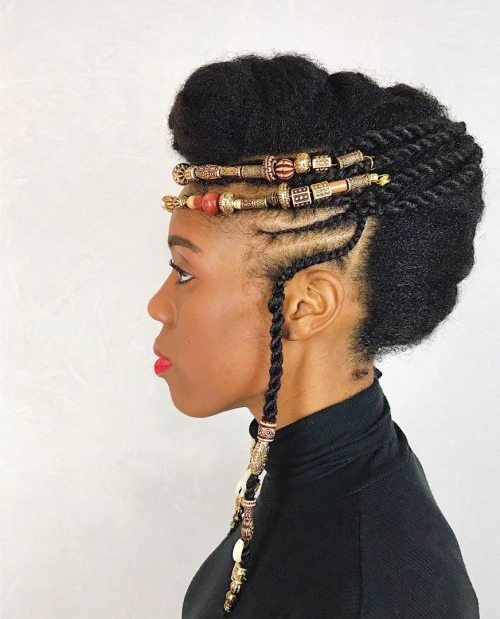 Black Natural Mohawk Updo – Hairstyles In Cool Mohawk Updo Hairstyles (View 23 of 25)