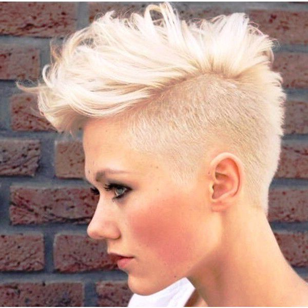 Bleached Blonde Soft Mohawk | Hair In 2019 | Pinterest | Hair Styles For Bleached Mohawk Hairstyles (View 5 of 25)