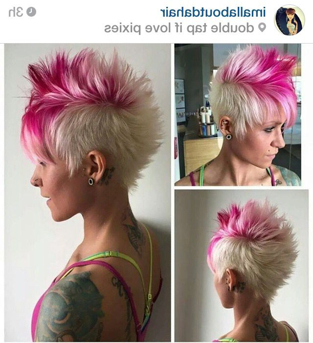 Blonde And Pink | Hair | Pinterest | Hair, Short Hair Styles And With Regard To Pink Pixie Princess Faux Hawk Hairstyles (View 8 of 25)