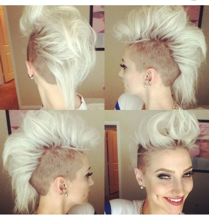 Blonde Mohawk, Not Pinning This One Because I Would Do It But Intended For Blonde Mohawk Hairstyles (View 22 of 25)