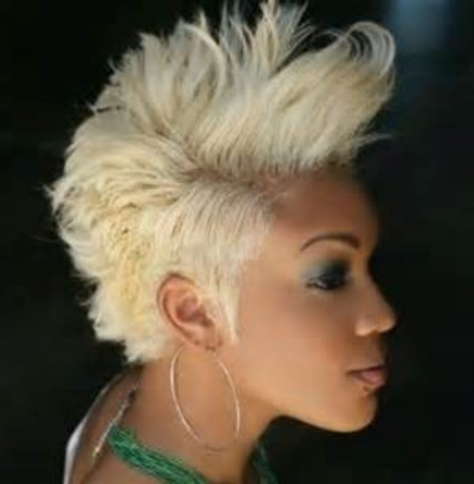 Blonde Short Mohawk Hairstyles Black Women For Blonde Mohawk Hairstyles (View 11 of 25)