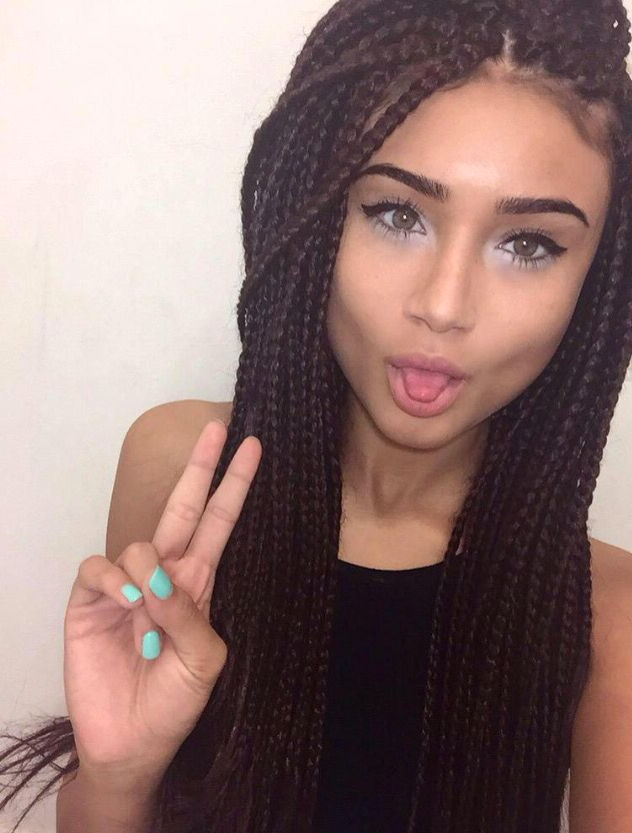 Box Braids | Classic Box Braid Hairstyles In 2018 | Braids, Hair In Braided Tower Mohawk Hairstyles (View 10 of 25)