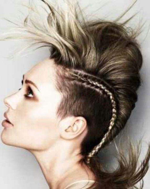 Braided Mohawk | Pelo In 2018 | Pinterest | Hair Styles, Hair And Braids Regarding Bleached Feminine Mohawk Hairstyles (View 24 of 25)