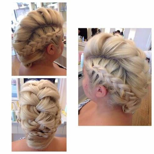 Braided Updo | Braids | Hair, Braids, Braided Updo Inside Retro Pop Can Updo Faux Hawk Hairstyles (View 21 of 25)