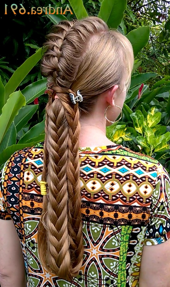 Braids & Hairstyles For Super Long Hair: Tribal Mohawk Braided Ponytail With Regard To Braided Tower Mohawk Hairstyles (View 20 of 25)