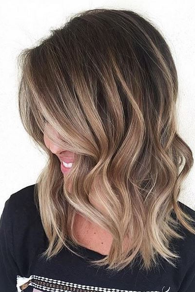 Bronde Caramel Highlights … | Hair | Pinterest | Hair, Balayage And In Most Recently Caramel Lob Hairstyles With Delicate Layers (View 18 of 25)