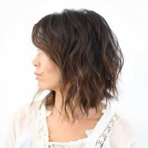 Choppy Bob With Waves | Fashion And Makeup | Pinterest | Bobs, Hair Regarding Latest Choppy Waves Hairstyles (View 2 of 25)