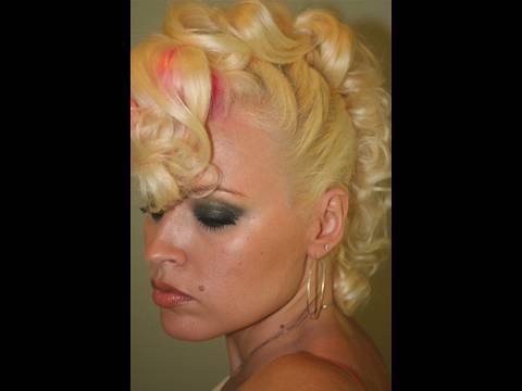 Christina Aguilera Faux Hawk Hair Tutorial – Youtube For Amber Waves Of Faux Hawk Hairstyles (View 23 of 25)