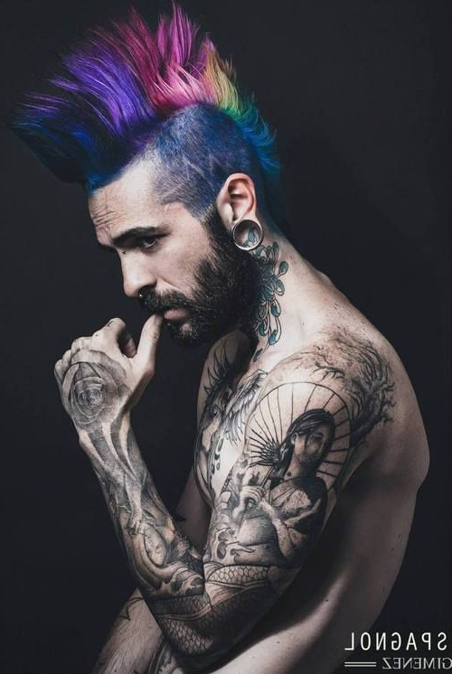 Colored Hair Collection | Other – Male Character Inspiration | Hair Inside Steel Colored Mohawk Hairstyles (View 10 of 25)