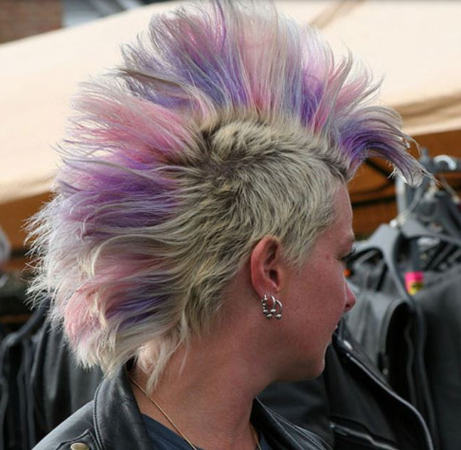 Colored Mohawk Hairstyles In Purple And Pink In Pink And Purple Mohawk Hairstyles (View 25 of 25)