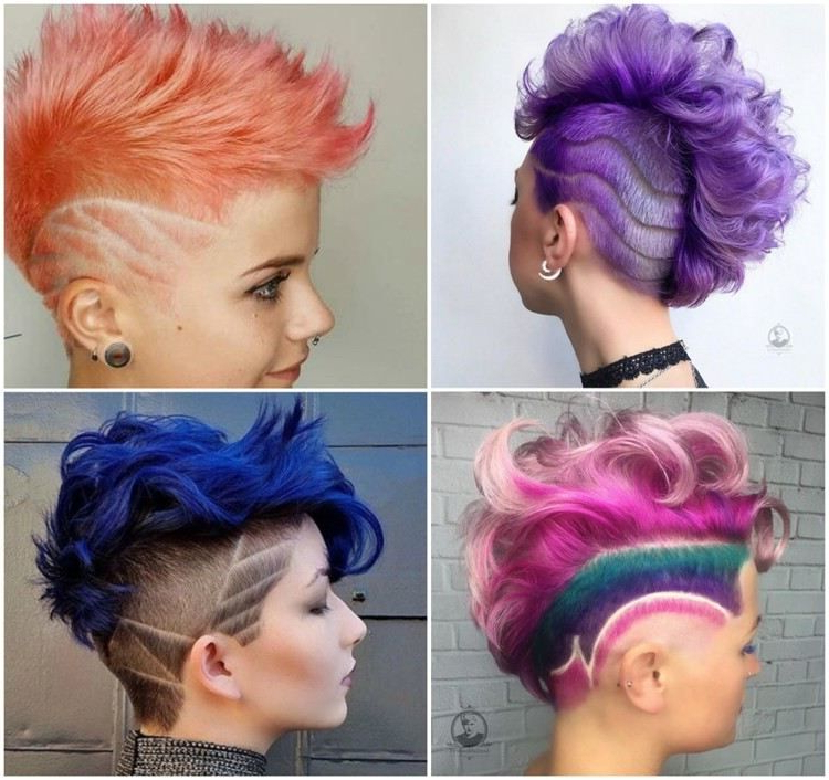 Coupe Mohawk Femme: Un Style Extravagant Qui Nous Fait Craquer Intended For Extravagant Purple Mohawk Hairstyles (View 15 of 25)